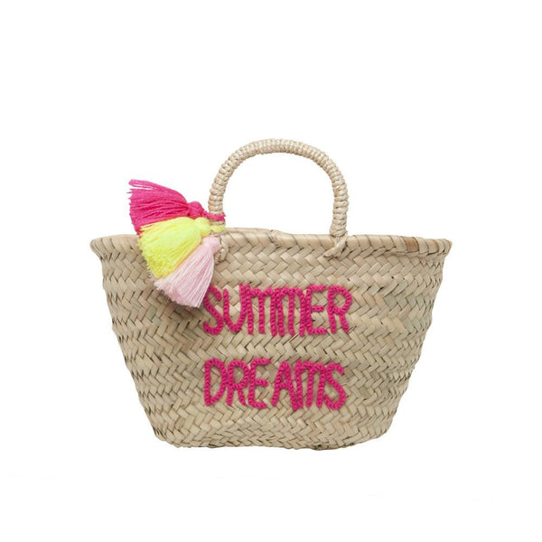 Pompons Embroidered Basket Summer Dreams - Solsken