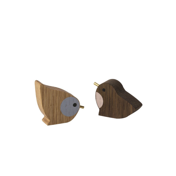 Winterland Wooden Birds - Solsken