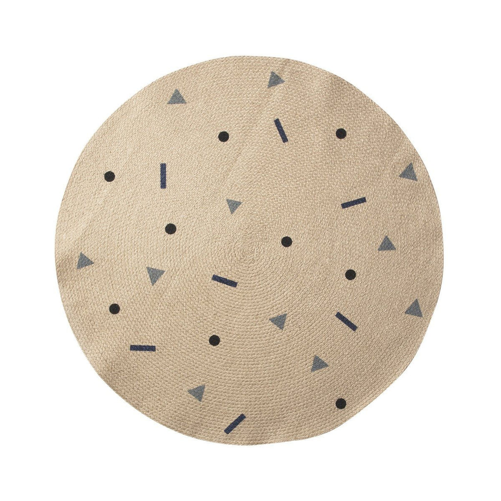 Kids Jute Round Carpet - Solsken