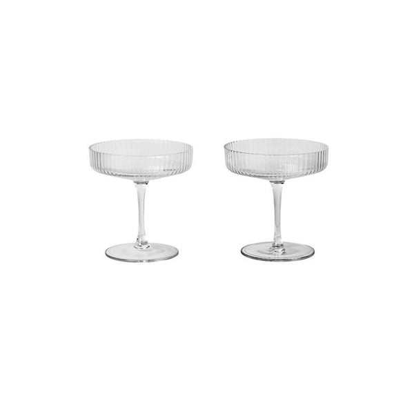 Ripple Champagne Saucers - set of 2 - Solsken