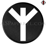 Algiz Rune Circular Patch-satanic-clothing-heathen-merchandise-by-ASP Culture