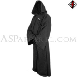 Algiz Rune Hooded Ritual Robe-satanic-clothing-heathen-merchandise-by-ASP Culture