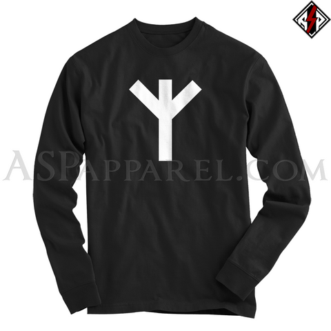 Algiz Rune Long Sleeved T-Shirt