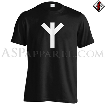 Algiz Rune T-Shirt-satanic-clothing-heathen-merchandise-by-ASP Culture