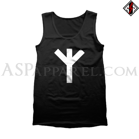 Algiz Rune Tank Top-satanic-clothing-heathen-merchandise-by-ASP Culture