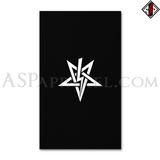 Anton LaVey Sigil Banner Flag (Vertical)-satanic-clothing-heathen-merchandise-by-ASP Culture