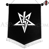 Anton LaVey Sigil Chevron Pennant-satanic-clothing-heathen-merchandise-by-ASP Culture