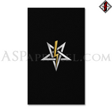 Anton LaVey Sigil Deluxe Banner Flag (Vertical)-satanic-clothing-heathen-merchandise-by-ASP Culture