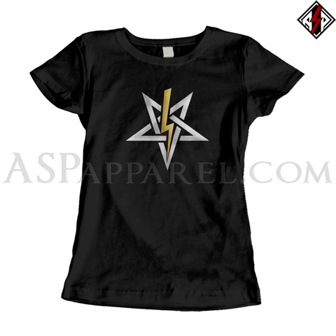 Anton LaVey Sigil Deluxe Ladies' T-Shirt-satanic-clothing-heathen-merchandise-by-ASP Culture