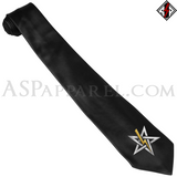 Anton LaVey Sigil Deluxe Satin Tie-satanic-clothing-heathen-merchandise-by-ASP Culture
