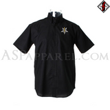 Anton LaVey Sigil Deluxe Short Sleeved Shirt-satanic-clothing-heathen-merchandise-by-ASP Culture