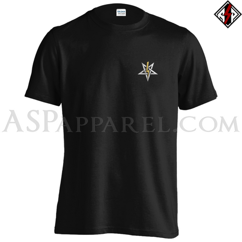 Anton LaVey Sigil Deluxe T-Shirt - Small Print-satanic-clothing-heathen-merchandise-by-ASP Culture