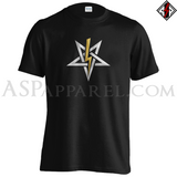 Anton LaVey Sigil Deluxe T-Shirt-satanic-clothing-heathen-merchandise-by-ASP Culture