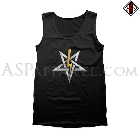 Anton LaVey Sigil Deluxe Tank Top-satanic-clothing-heathen-merchandise-by-ASP Culture