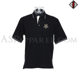 Anton LaVey Sigil Deluxe Tipped Polo Shirt