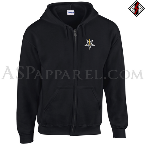 Anton LaVey Sigil Deluxe Zipped Hooded Sweatshirt (Hoodie)-satanic-clothing-heathen-merchandise-by-ASP Culture