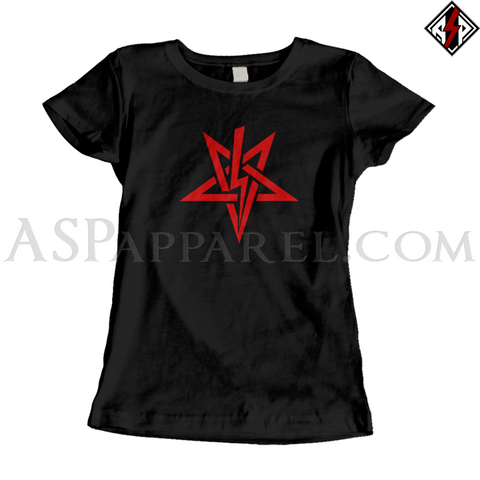 Anton LaVey Sigil Ladies' T-Shirt-satanic-clothing-heathen-merchandise-by-ASP Culture