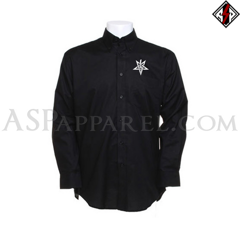 Anton LaVey Sigil Long Sleeved Shirt-satanic-clothing-heathen-merchandise-by-ASP Culture