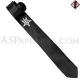 Anton LaVey Sigil Satin Skinny Tie-satanic-clothing-heathen-merchandise-by-ASP Culture
