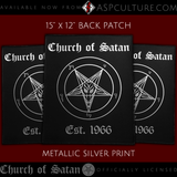 Church of Satan Est. 1966 Large Back Patch-satanic-clothing-heathen-merchandise-by-ASP Culture