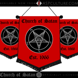 Church of Satan Est. 1966 Chevron Pennant