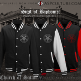 Sigil of Baphomet Varsity Jacket-satanic-clothing-heathen-merchandise-by-ASP Culture