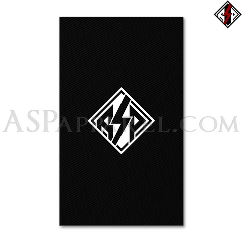 ASP Lozenge Banner Flag (Vertical)-satanic-clothing-heathen-merchandise-by-ASP Culture