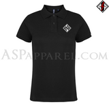 ASP Lozenge Ladies' Polo Shirt-satanic-clothing-heathen-merchandise-by-ASP Culture