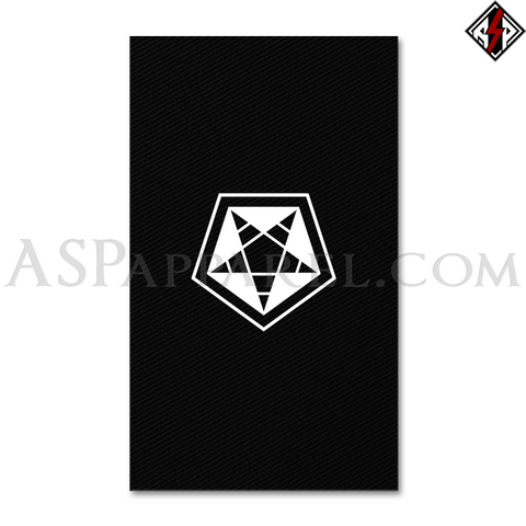 ASP Pentagram Sigil Banner Flag (Vertical)-satanic-clothing-heathen-merchandise-by-ASP Culture