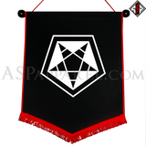 ASP Pentagram Sigil Chevron Pennant-satanic-clothing-heathen-merchandise-by-ASP Culture