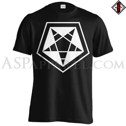 ASP Pentagram Sigil T-Shirt - Large Print-satanic-clothing-heathen-merchandise-by-ASP Culture