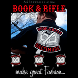 Book and Rifle Club Deluxe Zipped Hooded Sweatshirt (Hoodie)-satanic-clothing-heathen-merchandise-by-ASP Culture