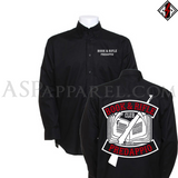 Book and Rifle Club Deluxe Long Sleeved Shirt-satanic-clothing-heathen-merchandise-by-ASP Culture