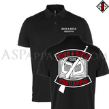 Book and Rifle Club Deluxe Polo Shirt-satanic-clothing-heathen-merchandise-by-ASP Culture
