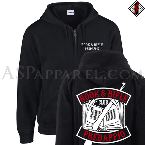 Book and Rifle Club Deluxe Zipped Hooded Sweatshirt (Hoodie)