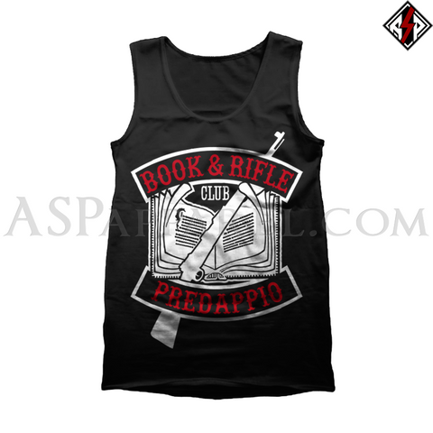 Book and Rifle Club Tank Top-satanic-clothing-heathen-merchandise-by-ASP Culture