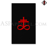 Brimstone Symbol Banner Flag (Vertical)-satanic-clothing-heathen-merchandise-by-ASP Culture