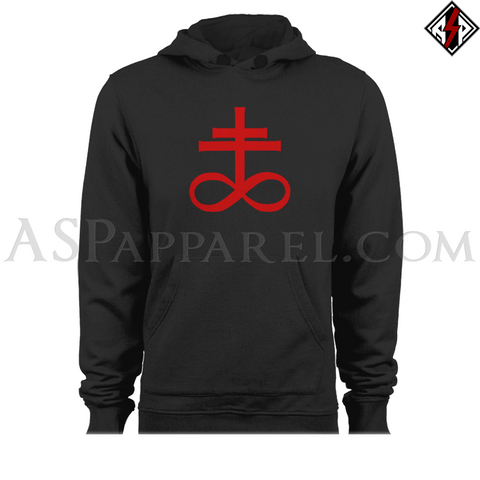 Brimstone Symbol Hooded Sweatshirt (Hoodie)-satanic-clothing-heathen-merchandise-by-ASP Culture