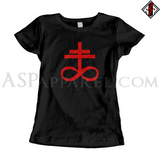 Brimstone Symbol Ladies' T-Shirt-satanic-clothing-heathen-merchandise-by-ASP Culture