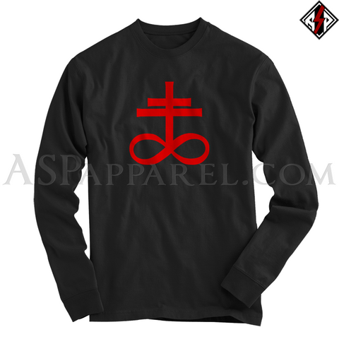 Brimstone Symbol Long Sleeved T-Shirt-satanic-clothing-heathen-merchandise-by-ASP Culture
