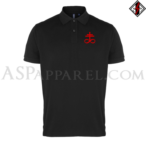 Brimstone Symbol Polo Shirt-satanic-clothing-heathen-merchandise-by-ASP Culture