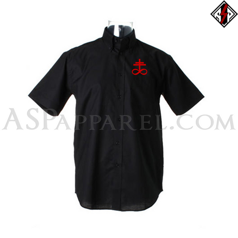 Brimstone Symbol Short Sleeved Shirt-satanic-clothing-heathen-merchandise-by-ASP Culture