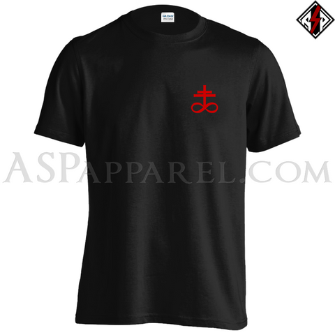 Brimstone Symbol T-Shirt - Small Print-satanic-clothing-heathen-merchandise-by-ASP Culture