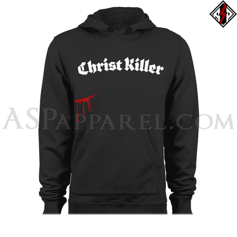 Christ Killer Hooded Sweatshirt (Hoodie)-satanic-clothing-heathen-merchandise-by-ASP Culture