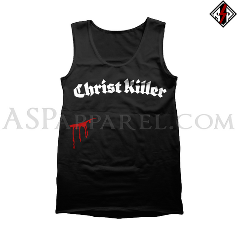 Christ Killer Tank Top-satanic-clothing-heathen-merchandise-by-ASP Culture