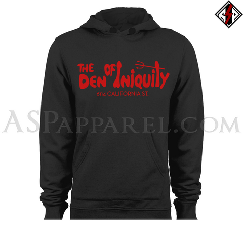 Den of Iniquity Hooded Sweatshirt (Hoodie)-satanic-clothing-heathen-merchandise-by-ASP Culture