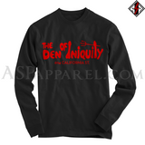 Den of Iniquity Long Sleeved T-Shirt-satanic-clothing-heathen-merchandise-by-ASP Culture