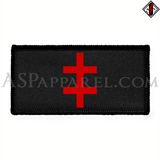 Double Cross (Cross of Lorraine) Rectangular Patch-satanic-clothing-heathen-merchandise-by-ASP Culture