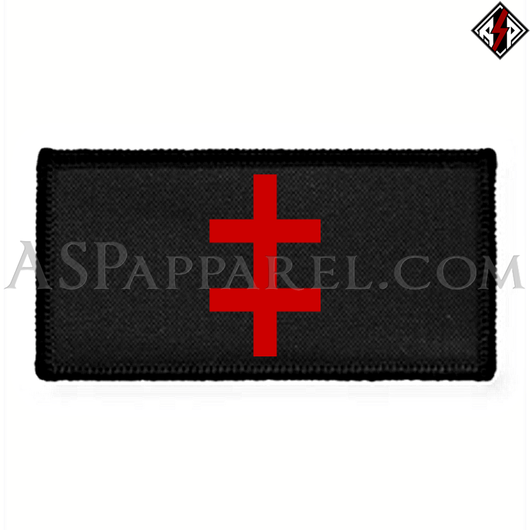 Double Cross (Cross of Lorraine) Rectangular Patch