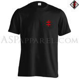 Double Cross (Cross of Lorraine) T-Shirt - Small Print-satanic-clothing-heathen-merchandise-by-ASP Culture